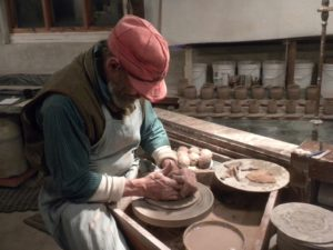ken making pottery  017